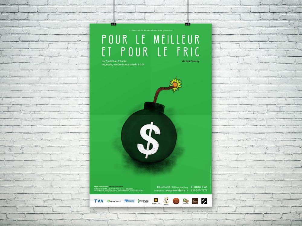 Affiche pour Les productions Skêné machine